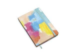 Caderneta Canvas sem pauta 14x21 pasteis