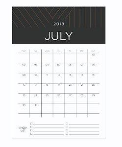Bloco Calendário 2020 Noir A5