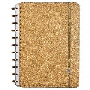 Caderno Inteligente Glitter Bronze A5