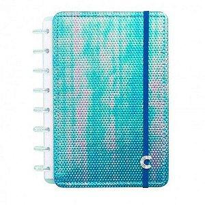 Caderno Inteligente Azul Holografico Grande