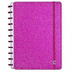 Caderno Inteligente Glitter Pink Grande