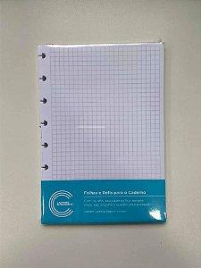 Refil Quadriculado A5 Caderno Inteligente