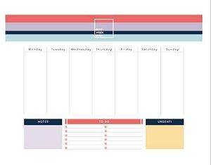 Bloco Planner Semanal Allegro
