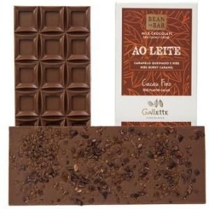 Gallette - Bean to Bar 40% - Nibs e Caramelo Queimado (100g)