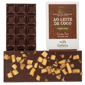 Gallette - Bean to Bar 50% VEGANO - Ao Leite de Coco (100g)