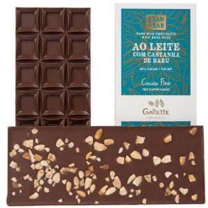 Gallette - Bean to Bar 56% - Castanha de Baru (100g)