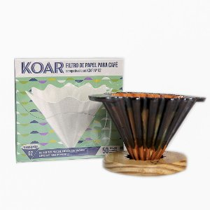 Kit Koar Cerâmica + Filtro de Papel Koar 50 un.