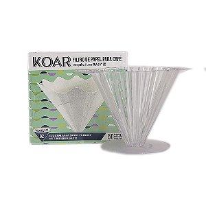 Kit Koar Acrílico + Filtro de Papel Koar 50 un.