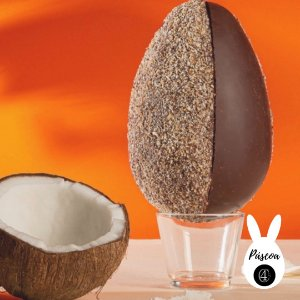 Ovo de Páscoa da Vó - 65% com Tapioca e Coco - Baianí  (400g)