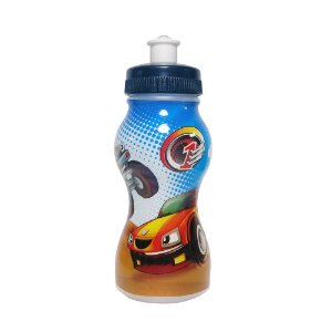 Garrafinha Squeeze Infantil com Personagem Hot wells Motocar- 250ml