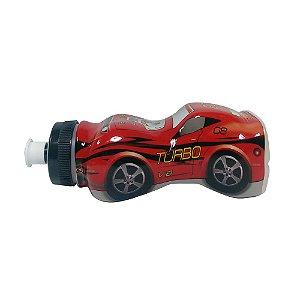DUPLICADO - Garrafinha Squeeze Infantil Carrinho Turbo Vermelho - 370ml