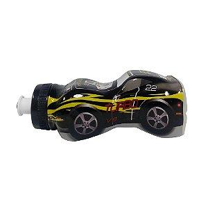 Garrafinha Squeeze Infantil Carrinho Turbo Preto - 370ml