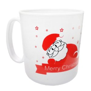 Caneca Plástica Tema Noel Marry Christmas - 400ml