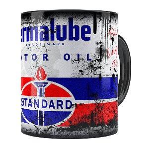Caneca Lata de Óleo Retrô Oil Standard Preta