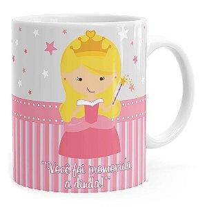 Caneca Dinda Princesa Cute Branca
