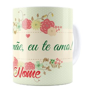Caneca Personalizada Mamãe Adventista com Nome Branca