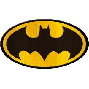 Placa Decorativa Batman Logo Big em Madeira 40x30cm