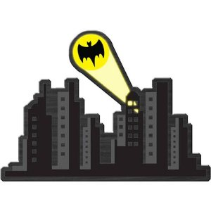 Placa Decorativa Batman Gotham City Madeira 40x30cm