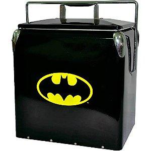 Cooler de Bebidas Logo Batman Preto Metal