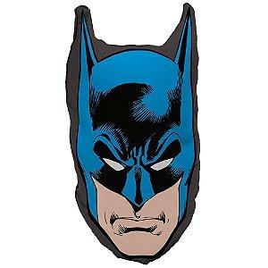 Almofada Batman Face Azul e Preto 45x23cm