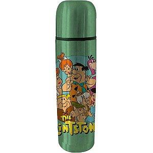 Garrafa Térmica Flintstones Family Verde 500ml Inox