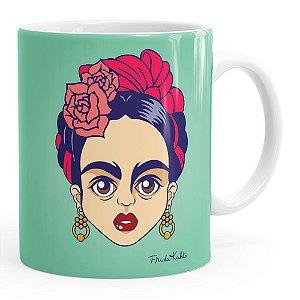 Caneca Frida Kahlo Arte Branca