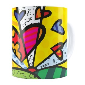 Caneca Romero Britto A New Day Branca