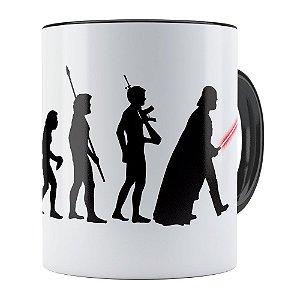 Caneca Star Wars A Evolução de Darth Vader Preta