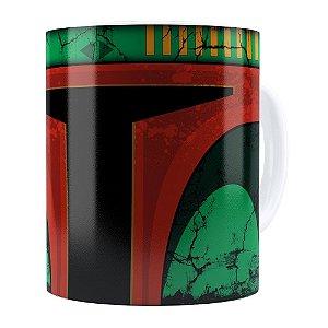 Caneca Star Wars Boba Fett v01 Cabeça Branca