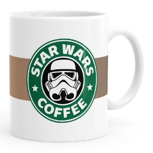 Caneca Star Wars Coffee Branca