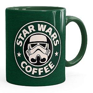 Caneca Star Wars Coffee Green Verde Escuro