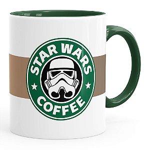 Caneca Star Wars Coffee Verde Escuro