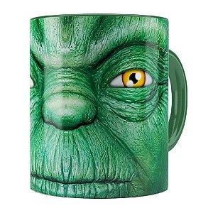 Caneca Star Wars Mestre Yoda v01 Verde Escuro