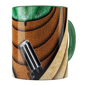 Caneca Star Wars Mestre Yoda v02 Corpo Verde Escuro