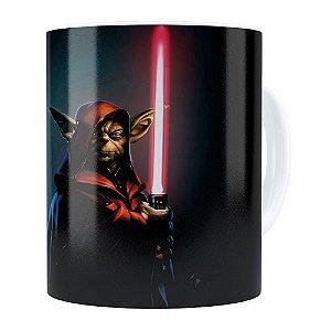 Caneca Star Wars Mestre Yoda v04 Branca