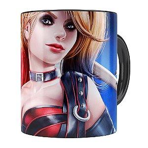 Caneca Arlequina (Harley Quinn) v04 Preta