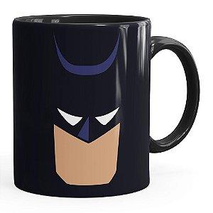 Caneca Batman Anime Minimalista Preta
