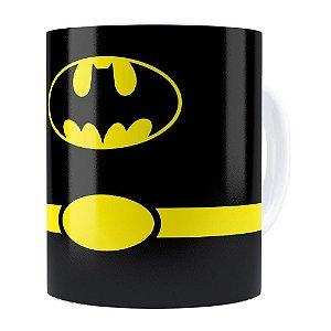 Caneca Batman Minimalista Branca