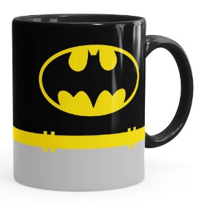 Caneca Batman Porcelana Preta