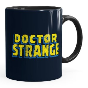 Caneca Doutor Estranho (Doctor Strange) v02 Preta