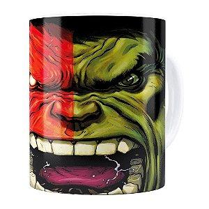 Caneca Hulk v03 Porcelana Branca