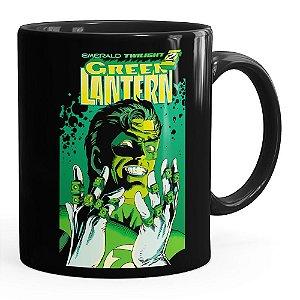 Caneca Lanterna Verde v02 Preta