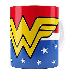 Caneca Mulher Maravilha (Wonder Woman) v02 Branca
