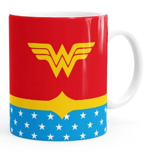 Caneca Mulher Maravilha (Wonder Woman) v03 Branca