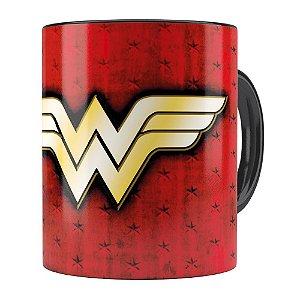 Caneca Mulher Maravilha (Wonder Woman) v04 Preta