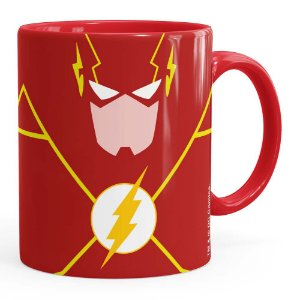 Caneca The Flash Minimalista Vermelha