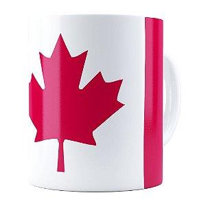 Caneca Bandeira do Canada Branca