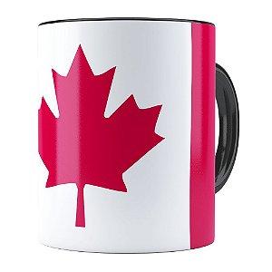 Caneca Bandeira do Canada Preta