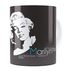 Caneca Marilyn Monroe Nascimento e Morte Branca