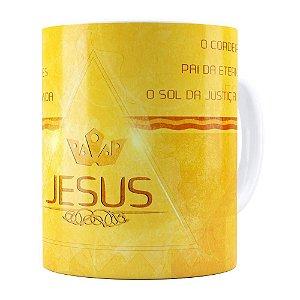 Caneca Jesus Senhor dos Senhores Branca